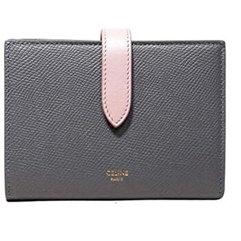 셀린느 Celine Grey Strap Wallet In Bicolour Grained Calfskin