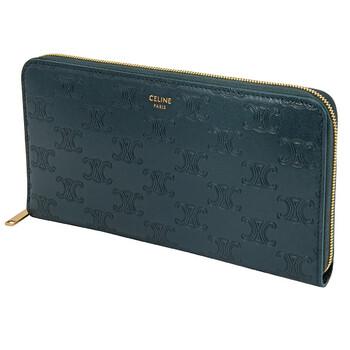셀린느 Celine Ladies Embossed Smooth Calfskin Zip Wallet