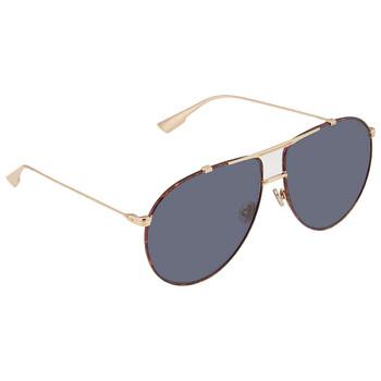디올 여성 선글라스 Christian Dior Blue Antiglare Aviator Ladies Sunglasses DIORMONSIEUR106JA963