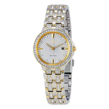 시티즌 시계 Citizen Silhouette Crystal Silver Dial Ladies Watch EW2344-57A