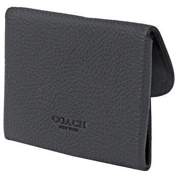 COACH Blac /Midnight Mens Snap Card Case In Colorblock