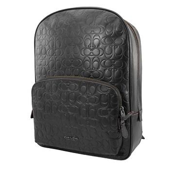 코치 백팩 COACH Black Kennedy Backpack In Signature Leather