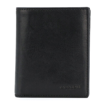 COACH Black Mens Slim Coin Wallet