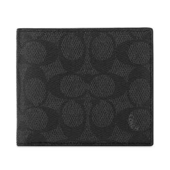 COACH Charcoal Signature Billfold Wallet
