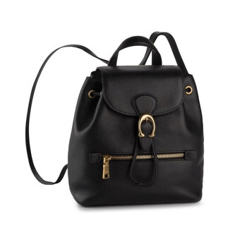Deals on Coach Ladies Black Pebble Leather Evie 22 Backpack