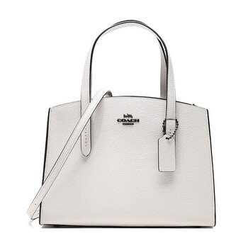 Coach Ladies Charlie Carryall 28 Handbag In White Leather