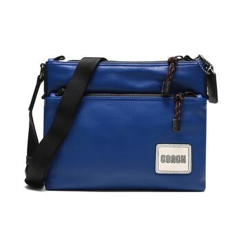 Mens 코치 COACH Patch Pacer Crossbody Bag in Black Copper/Sport Blue