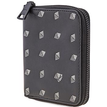 COACH Mens Small Zip Around Wallet With Dot Diamond Print
