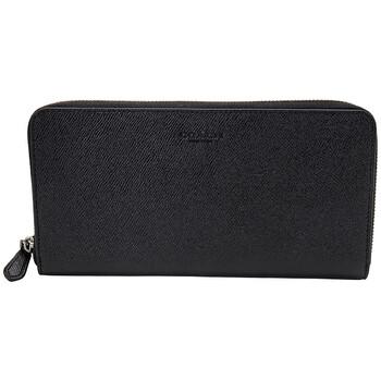 COACH Mens Black Crossgrain Leather Travel Wallet