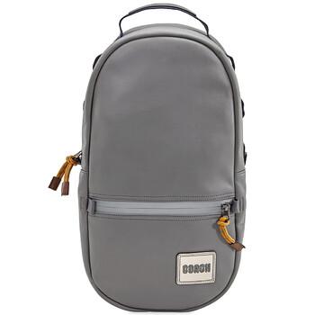 코치 백팩 Mens COACH Patch Pacer Backpack in Black Copper/Heather Grey