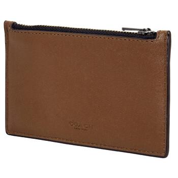 COACH Saddle Mens Zip Card Case