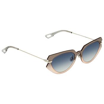디올 여성 선글라스 Black Blue Crystal Cat Eye Ladies Sunglasses DIORATTITUDE2 07HH 53