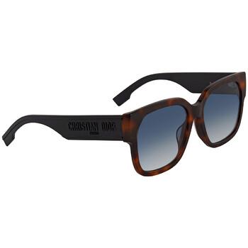 디올 여성 선글라스 Blue Gradient Square Ladies Sunglasses DIORID1F 0086 58
