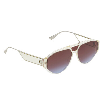 디올 여성 선글라스 Clan 1 Blue Red Blue Geometric Ladies Sunglasses DIOR CLAN1 040G YB 61