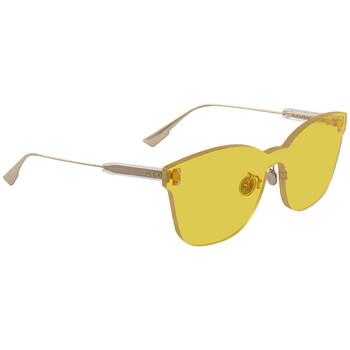 디올 여성 선글라스 Color Quake Yellow Shield Ladies Sunglasses DIORCOLORQUAKE240G