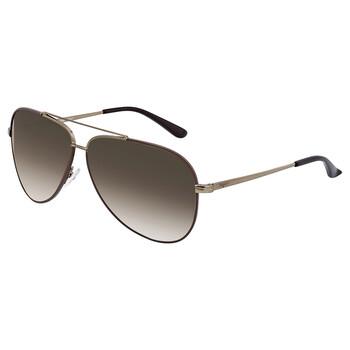 Deals on Salvatore Ferragamo Brown Aviator Sunglasses