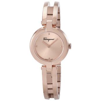 페라가모 쿼츠 여성 드레스 손목 시계 - 로즈 골드 (이민정 착용) Salvatore Ferragamo Quartz Rose Dial Ladies Watch FAT070017