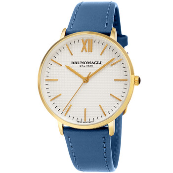 브루노 말리 시계 Bruno Magli Roma 1222 Quartz White Dial Ladies Watch 21.181222.GB