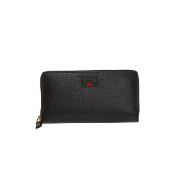 구찌 아고라 지갑 Gucci Agora Black Mens Leather Zip Around Wallet With Web