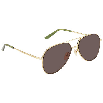 구찌 Gucci Brown Aviator Unisex Sunglasses 889652160467002 59