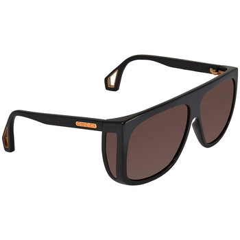 구찌 Gucci Brown Oversized Unisex Sunglasses GG0467S00262