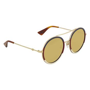 Gucci Brown Round Ladies Sunglasses
