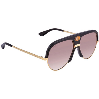 구찌 Gucci Brown Shaded Pilot Unisex Sunglasses GG0477S00159