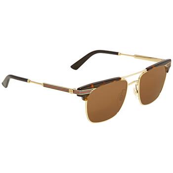 구찌 Gucci Brown Square Sunglasses GG0287S 003 52