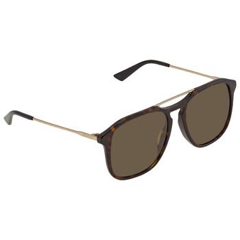 구찌 Gucci Brown Square Sunglasses GG0321S 002 55