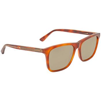 구찌 Gucci Brown Square Sunglasses GG0381S 010 57