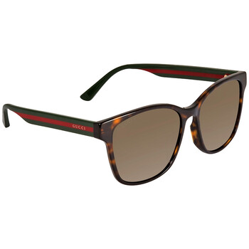 구찌 Gucci Brown Square Unisex Sunglasses GG0417SK 003 56