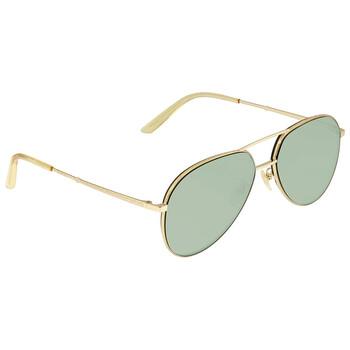 구찌 Gucci Green Aviator Unisex Sunglasses GG0356S 004 59