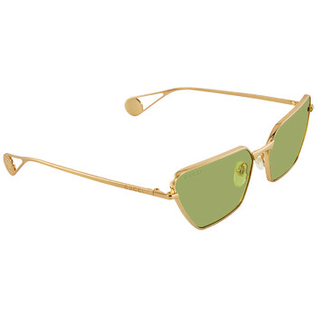 구찌 Gucci Green Cat Eye Sunglasses GG0538S 003 63