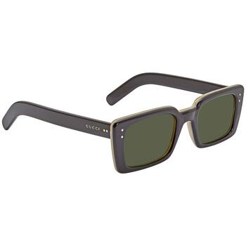 구찌 Gucci Green Rectangular 52mm Sunglasses GG0539S 005 52