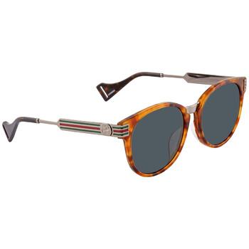 구찌 Gucci Green Round Sunglasses GG0586SA00255