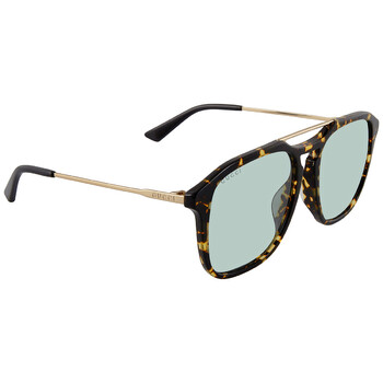 구찌 Gucci Green Square Sunglasses GG0321S 004 55