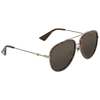 구찌 Gucci Grey Aviator Sunglasses