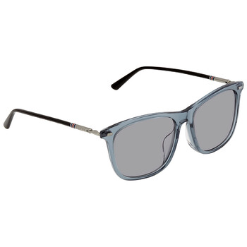 구찌 Gucci Grey Rectangular Unisex Sunglasses GG0518SA00456