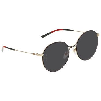 구찌 Gucci Grey Round Sunglasses GG0395SK 001 56