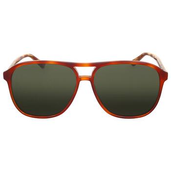 구찌 Gucci Havana Green Square Sunglasses