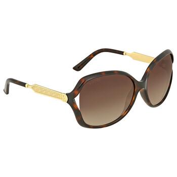 구찌 Gucci Havana Round Sunglasses
