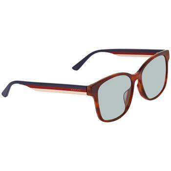 구찌 Gucci Light Blue Square Unisex Sunglasses GG0417SK00556