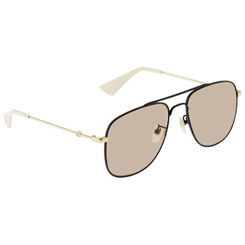 구찌 Gucci Light Pink Aviator Sunglasses GG0514S00557