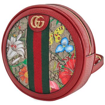 구찌 오피디아 백팩 미니Gucci Ophidia GG Flora Mini Backpack In Red