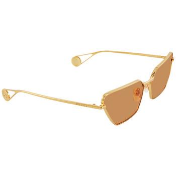 구찌 Gucci Orange Rectangular Sunglasses GG0538S 004 63