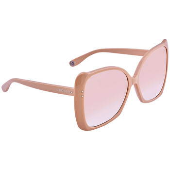 구찌 Gucci Oversized Beige Sunglasses GG0471S 004 62