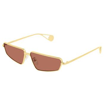 구찌 Gucci Red Rectangular Unisex Sunglasses GG0537S00263