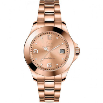 Deals on Ice-Watch Quartz Rose Dial Rose Gold-tone Ladies Watch 017321