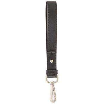 지미 추 Jimmy Choo Black Mens Black Biker Leather Wristlet
