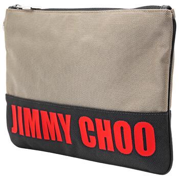 지미 추 Jimmy Choo Mens Bicolor Derek Logo Print Clutch